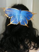 Blue Butterfly Haircomb