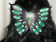 Green Butterfly Haircomb
