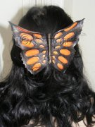 Orange Butterfly Haircomb