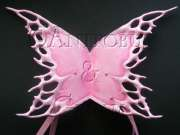 Pink Leather Fairy Wings