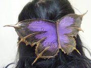Purple Butterfly Haircomb